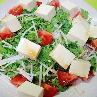 ダシダドレッシングで♪豆腐と大根のヘルシーサラダ