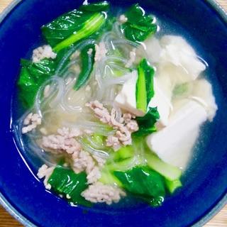 マロニーの中華スープ