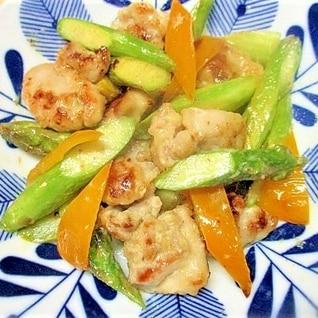 鶏モモ肉とアスパラのマヨ炒め