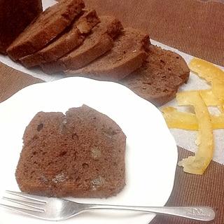文旦ピールのチョコレートパウンドケーキ