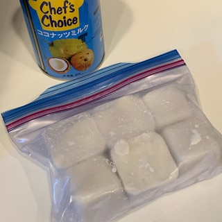 使いたい分量を使える♪ココナッツミルクの冷凍保存