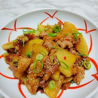 豚肉と大根のピリ辛中華炒め