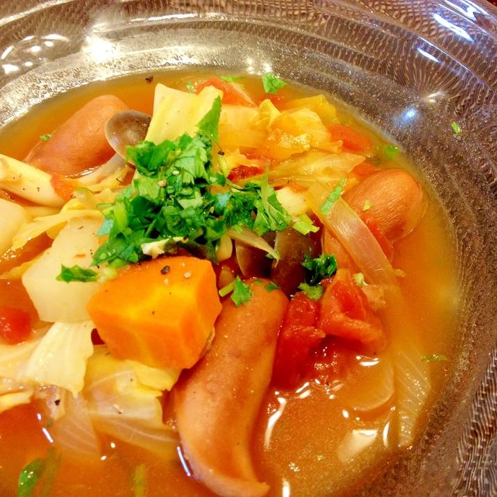 カルディレシピ☆「野菜たっぷりポトフ」トマト缶で♪