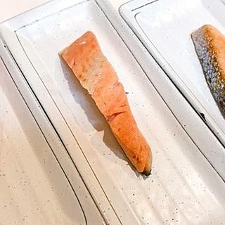 美味しい塩シャケの♪エゴマオイル焼き
