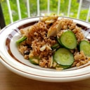 【独居自炊】糠漬けきゅうりと焼き魚の玄米飯
