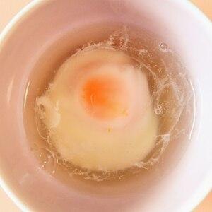 レンジで30秒。温玉or半熟卵 お好みのままに♪