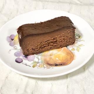 簡単⭐材料少なめで!濃厚なめらかチョコレートケーキ