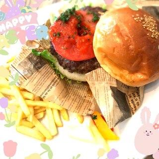 簡単時短で出来るお昼ご飯や夕飯に♪ハンバーガー☆