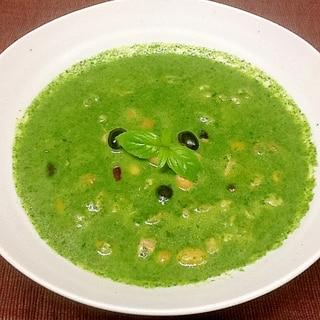 バジル香るグリーンポタージュスープ