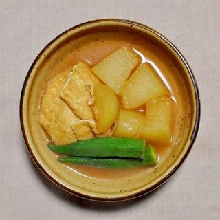 冬瓜(とうがん)とオクラと油揚げの煮物