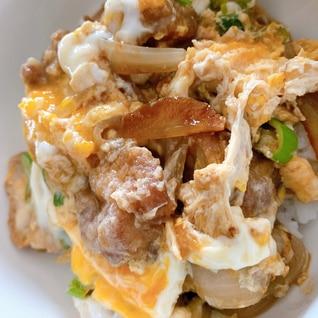 唐揚げをリメイク♫卵とじ丼