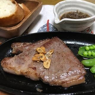 白ワインのステーキソース&ステーキ肉