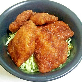 特製ソースで☆ソースチキンカツ丼