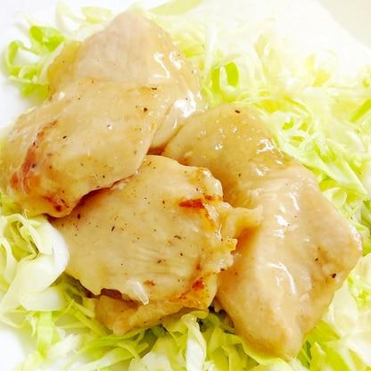 鶏むね肉で、冷めても美味しい塩照り焼きチキン