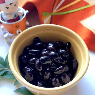 ◤電鍋レシピ◢ 短時間でふっくら黒豆 ★おせち料理