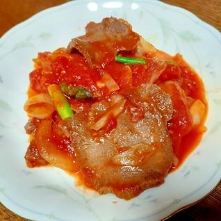圧力鍋で柔らか~簡単♪牛タンのトマト煮
