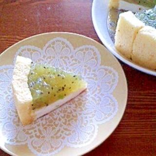 キウイのヨーグルトレアチーズ