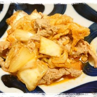 白菜消費☆豚こまと白菜のピリ辛煮