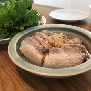 炊飯器で蒸し豚
