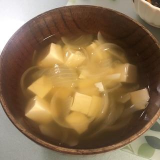 玉ねぎととうふのコンソメスープ
