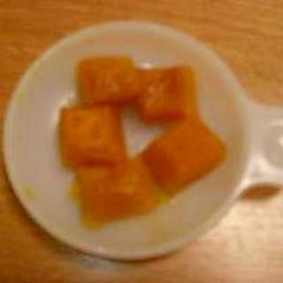 離乳食☆ 手掴みで! かぼちゃの煮つけ