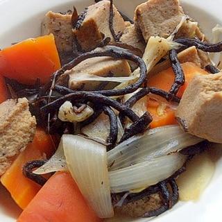 お袋の味でヘルシー❤高野豆腐&ひじき&根菜の煮物♪