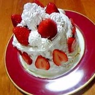 小学生でも作れる♡ひな祭り♡いちごケーキ