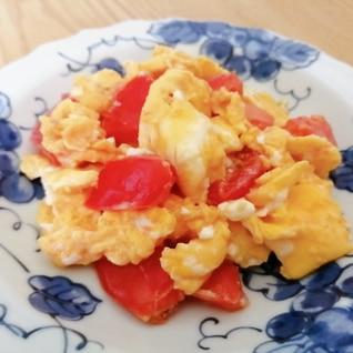 簡単♪中華風☆トマト卵炒め