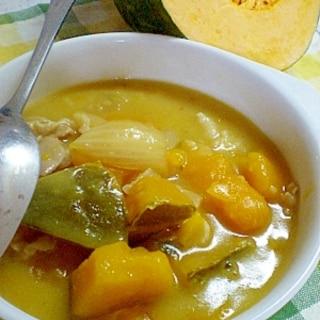 ふか~い甘さ!煮物からの和風かぼちゃシチュー