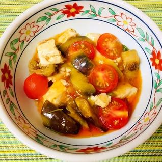 さっぱり美味しいプチトマトとなすの麻婆豆腐