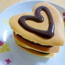 HMで★ハート型パンケーキ バレンタインにも♪