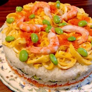 ひな祭りに★簡単可愛い★寿司ケーキ