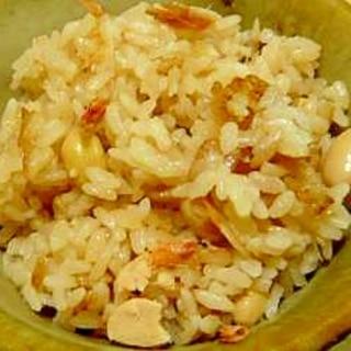 桜えびと大豆の炊き込みご飯