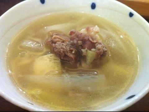 ラム肉と大根の中華スープ
