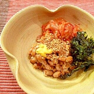 韓国風☆キムチ納豆