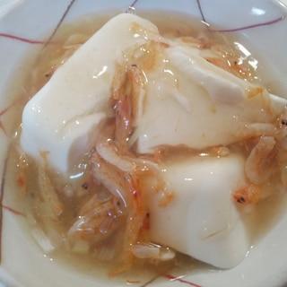 あったか♪豆腐の桜えびあんかけ☆