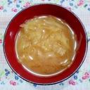 キャベツたっぷり!食物繊維が摂れるお味噌汁♪