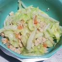 作りおきそぼろで簡単温サラダ