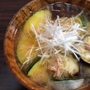 【ツナ缶と夏野菜の味噌汁】~針葱を添えて