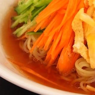【簡単】うちの冷やし中華スープ