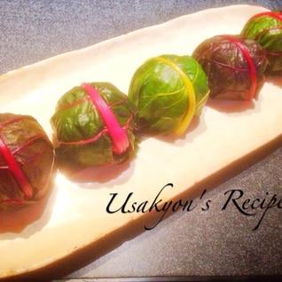 パーティや行楽・お弁当に♡スイスチャードの手毬寿司