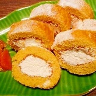おからパウダーとHK粉☆ロールケーキ