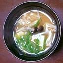 蟹の出汁で♪リッチな味噌汁!