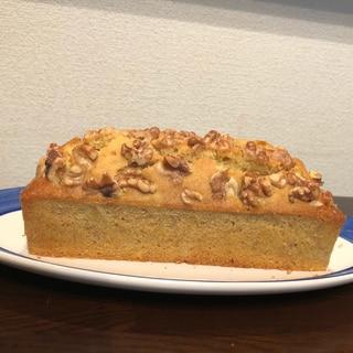 バナナとチャイの米粉パウンドケーキ
