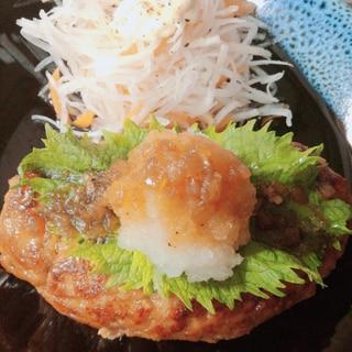 卵、パン粉なしで!おろしそ豆腐ハンバーグ