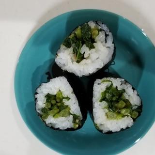 大根の葉っぱの巻き寿司