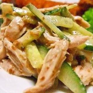 鶏ささみの簡単サラダ