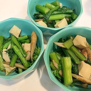 春を美味しくいただきます☆菜の花と高野豆腐の炒め煮