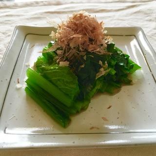 簡単レンジで小松菜のお浸し♡