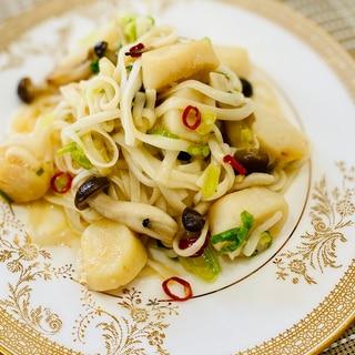 【糖質ゼロ麺】貝柱入りペペロンチーノ風